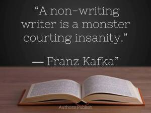 Writing silences the monster.
